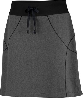 Camp and Hike Comfy and stylish, this drawstring jersey-cotton skirt is great for afternoons at the lake, running errands and even light hiking. The active fit adds to this skirts versatility, while Columbias Omni-Wick advanced evaporation technology moves moisture away from your skin, keeping you drier and more comfortable. 57/43 cotton/polyester. Imported.Length: 20.Sizes: S-XL.Color: Coal Heather. - $24.88