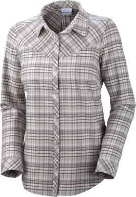 A modern look and feminine cut update the classic Western button-up with this 100% cotton flannel shirt perfect for casual, cool days. Snap closures on all pockets, the cuffs and the front seam give it even more Western authenticity. Tuck-in hem. Imported.Center back length: 27-1/2.Sizes: S-XL.Colors: Sea Salt Check, Light Grape Check, Afterglow Check. - $29.88