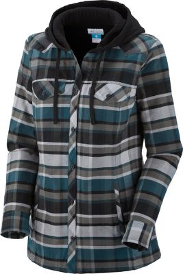 Get the best of two worlds when a hoodie and a Western button-up come together. A solid-colored hood is paired with a flannel plaid body, complete with chest pockets and snap buttons. 100% cotton flannel; 60/40 cotton/polyester lining. Imported.Sizes: S-XL.Colors: Blue Forest Plaid, Bright Red Plaid, Light Grape Plaid, Sea Salt Plaid. Type: Hoodies. Size: X-Large. Color: Bright Red Plaid. Size Xl. Color Bright Red Plaid. - $67.88