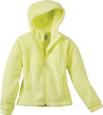 Soft, cozy fleece keeps her warm when the weather turns bad. Hoodie has a stylish fit and comes in trendy colors for the fashion-conscious girl. Zippered handwarmer pockets. 100% polyester. Imported.Sizes: 4/5, 6/6X, 7/8, 10/12, 14/16.Colors: Afterglow, Clear Blue, Light Grape, Neon Light. - $19.88