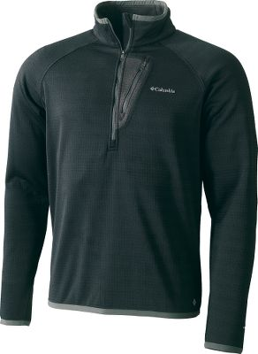 When temperatures dip, put on the cold-beating power of Columbias Off-the-Grid fleece. Crafted with an active fit and four-way comfort stretch, this 1/2-zip boasts the breathability and moisture-wicking comfort of Omni-Wick technology. Zip-close chest pocket. 100% polyester. Imported. Sizes:M-2XL.Colors: Black, Ebony/Blue, Gravel(not shown). - $29.88