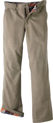 These Cabelas-exclusive pants feature a stain- and tear-resistant, 100% cotton-canvas shell with moisture-wicking flannel liner for comfort in a wide range of conditions. Five-pocket design provides ample storage for essential items. Machine washable. Imported.Inseams: 30, 32. Even waist sizes: 30-44.Colors: Flax, Alpine Tundra. Waist: 42. Type: Pants. Inseam: 30. Color: Flax. Waist 42. Inseam 30. Color Flax. - $24.88