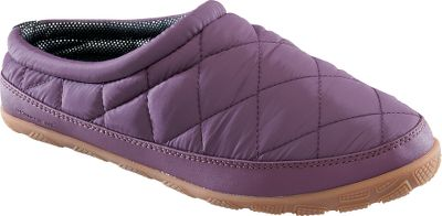 Entertainment Enjoy the super-soft footbeds and cozy warmth of Omni-Heat thermal reflective linings provided by these lounge-worthy shoe-slippers. Durable waterproof nylon construction and high-traction rubber outsoles mean they do well outdoors too. Imported. Average weight: 5 oz.Womens whole sizes:6-10 medium. Colors: Fawn, Vino. - $39.88
