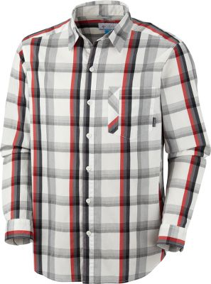 Guns and Military Cool, dry and comfortable, this shirt blends 66% cotton, 30% nylon and 4% elastane into a great-fitting plaid shirt. Omni-Wick moisture-management technology moves moisture away from the body so it evaporates quickly. Imported.Sizes: M-2XL.Colors: Sea Salt, Collegiate Navy. - $19.88