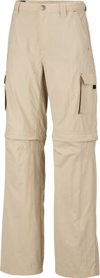 Weather often changes quickly during outdoor adventures and these pants will help your young explorer change right along with it. Zip-off legs convert these cargo pants into shorts with a 9 inseam in seconds. Omni-Wick technology makes the 100% nylon mini-ripstop material moisture-wicking and fast drying, while Omni-Shade provides a UPF rating of 50 for protection from harmful uv rays. Interior adjustable waistband. Two slash front side pockets and a cargo pocket on each leg. Imported.Sizes: 4/5, 6/7, 8, 10/12, 14/16.Inseam: 27.Colors: Fossil, Major. - $19.88