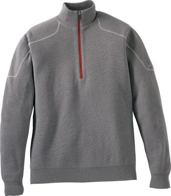 Fitness With an active fit, 1/2-zip collar and soft cotton-wool blend, this pullover will become one of your favorites. Tall cabled collar keeps the wind off your neck. 90/10 cotton/wool. Imported.Sizes: M-2XL.Colors: Boulder, Dark Moss. - $49.88