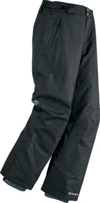 Columbia Mens Bugaboo II Pants are the perfect pants for cool days in the snow. Omni-Tech critically seam-sealed shell for waterproof, breathable protection. Internal adjustable leg gaiters keep snow from sneaking up your legs. Articulated knees allow enhanced freedom of movement. Exterior adjustable waist with waist tabs. Reinforced cuff guards. 40-gram polyester Microtemp insulation keeps you warm. Polyester tricot lining. Imported. Inseam: 31-32. Sizes: M-2XL. Colors: Black, Black/Black. Size: Large. Color: Black/Black. Gender: Male. Age Group: Adult. Material: Polyester. Type: Pants. - $95.00