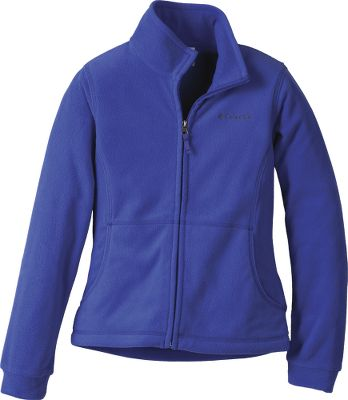 Simply your little girls next favorite lightweight jacket. Soft fleece in bright colors with Omni-Wick technology to keep her dry, warm and snug. Zippered front. Shell is 100% polyester microfleece. Imported.Center back length for size 7/8: 19.Sizes: XXS-XL.Colors: Opal Blue, Light Grape, Bright Rose (not shown). Size Xxs. Color Opal Blue. - $21.88