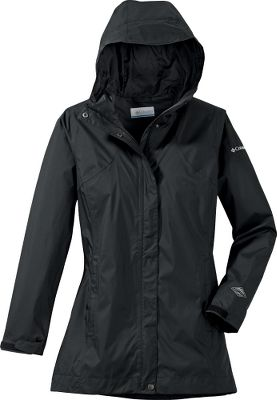 You will be ready to splash a little and dash into the rain with this stylish rain jacket from Columbia. Armed with Omni-Tech waterproof and breathable fabric that is fully seam sealed for the ultimate in dryness, you can take on the showers with flair. Attached, adjustable storm hood and adjustable cuffs. Interior security pockets and zippered hand pockets. 100% polyester shell, 100% nylon taffeta lining. Imported.Sizes: S-XL, 1X-3X.Colors: Black, Sea Salt Lattice, Grill. - $69.88