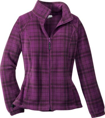 Traditional plaid combined with high-tech fleece gives the jacket the best of both old and new. The 360-gram MTR fleece surrounds you in a perfectly managed layer of warmth and comfort. An interior drawcord cinches to seal out the cold. Zip-close security pockets. Imported.Sizes: XS-XL, 1X-3X.Colors: Oyster/Grill, Bluegill/Oxide Blue, Dark Orchid/Grill. - $34.95