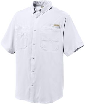 Fishing On the beach fishing or on the boardwalk, this Mens PFG Tamiami II Short-Sleeve Shirt from Columbia is ready to spring into action while looking great the whole time. Constructed of Omni-Wick lightweight, moisture-wicking, mechanical-stretch polyester fabric cut for a full, relaxed fit, youll enjoy complete freedom of movement. Odor-fighting fabric keeps it smelling fresh. Features include a vented back, rod holder, concealed pockets, Omni-Shade UPF rating of 40, front chest pockets and a button-down collar. Machine washable. Imported. Sizes: S-4XL. Colors: Vivid Blue, White, Sail, Gulfstream, Fossil, Tippet, Bright Peach, Coastal Blue, Collegiate Navy, Sunlit. Size: Medium. Color: Sail. Gender: Male. Age Group: Adult. Material: Polyester. Type: Short-Sleeve Shirts. - $40.00