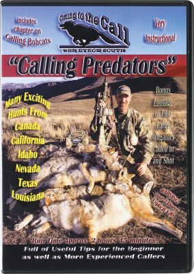 Hunting Calling Predators is the latest DVD from the Coming to the Call Series and Byron South. In this DVD, South revisits his other DVDs and reiterates and expands on what he believes would help new callers the most. This DVD consolidates many tips, tactics and several heart-pounding hunts. South covers a variety of topics and also answers many of the most frequently asked questions new callers have. Topics include: Choosing stand locations, use of hand calls, use of electronic calls, rifles, shotguns and optics. There's also all-new footage from hunts in several states Canada, California, Idaho, Nevada, Texas, and Louisiana and different types of habitats. Don't miss the bonus chapter that features Byron and his wife calling in and taking two large alligators. 2 hrs. 45 mins. - $7.88