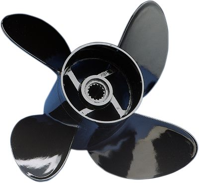 Fitness Comprop delivers four-blade performance for less than a three-blade aluminum prop! Used as original equipment by many top-quality boat builders. Why Testing shows durable Comprop propellers accelerate quicker, run faster, corner better and are smoother on most boats than three-blade aluminum props yet cost 30% less! Made in a computer generated mold assuring each blade is exactly alike. This process and the four-blade design results in unmatched smoothness and overall performance that ordinary three-blade aluminum props can't match. During soft-bottom/low-speed operation, the composite material resisted dings, folds and blunting common to aluminum props. During a high-speed prop strike, the blades are designed to break, absorbing much of the shock and reducing the likelihood of costly drivetrain repairs. When replacing a prop, use one of similar size and pitch for similar performance. Mounting hardware not included. Made in USA. - $64.99