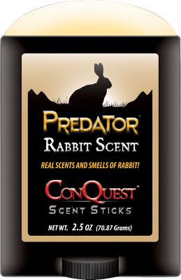 Hunting The smell of a rabbit rings the dinner bell for predators. Fool predators into thinking theyve found a rabbits bedding area with Rabbit In A Stick. Use as an all-season predator attractant. Apply the scent to brush, trees, rocks and edges in the calling area. 2-oz. stick. Type: Lures/Attractants. - $14.99