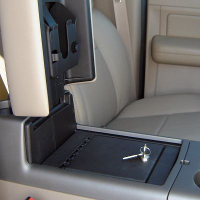 Its like having a safe in your vehicle. The Console Vault is made of 12-gauge rolled plate steel with bank vault-style hinges and a three-point locking system that cant be defeated. Installs in minutes. Secured with factory console bolts. For use in vehicles with a center console. Available: Barrel key or combo lock. Type: Console Vault. - $279.99