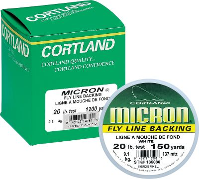 Flyfishing Cortland Micron fly line backing is among the best available. Its unique low-stretch factor eliminates the danger of building pressure on the reel. Micron's small diameter also allows more yardage on your reel. Fish with Cortland confidence. Size: 20 lb.. Color: White. Type: Backing. - $13.95
