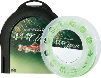 Flyfishing Innovative Cortland fly lines have time-proven strength and durability. The 444SL lines are stiffer and designed for those long casts to reach fish. A special front taper is designed for distances and delicate casts, and a rigid design creates less droop and friction to let your line shoot quickly through the guides. The weight-forward design has a longer body section to carry it through the air with greater distance and accuracy. A glass-smooth surface and stiff finish coating eliminates line sag between rod guides, reducing unwanted friction. Color: Mint Green. Size: 6. Color: Mint Green. - $59.00