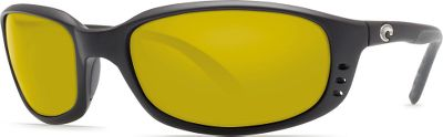 Entertainment Experience a world of amazing color, contrast and clarity through a pair of Costa Brine sunglasses. Exclusive, polarized Costa 580 lenses eliminate much of the glare and yellow light that negatively affects vision. The 580 advantage is available in lightweight, impact-resistant polycarbonate (580P) and optically perfect glass (580G) models. Anti-reflective, water-repellent coating sheds water and snow. Also available are the award-winning Sunrise 580P lenses that deliver 27% more light transmission for enhanced performance in low-light conditions. Glass lenses feature encapsulated, scratchproof mirrors. Exclusive lifetime warranty. Color: Yellow. Gender: Male. Type: Polarized. - $159.00