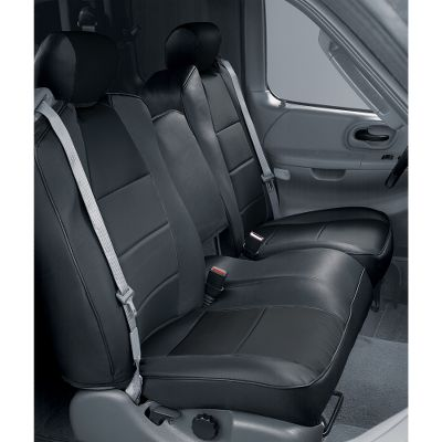 These tailored, solid-color seat covers are designed specifically to match the exact dimensions of the seats in thousands of different foreign and domestic cars and trucks. Secured with seatbelt-style hooks, a set can be installed in less than 30 minutes. The leatherette material is waterproof and rugged enough to stand up to years of everyday use. Backed by a two-year warranty against wear and seam separation. Colors: Black, Charcoal, Gray, Beige, Cashmere, Taupe (not shown). Color: Gray. Type: Seat Covers. - $249.99