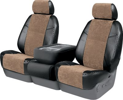 Mimicking the high-end styles found in the European luxury market, these suede and leatherette seat covers are breathable, durable, washable and stain-resistant. Custom designed for your vehicles make and model, so they fit like a glove. One-year warranty. Made in USA. Colors: Black/Tan, Black/Black, Black/Charcoal, Black/Gray. Color: Charcoal. Type: Custom-Fit Seat Covers. - $279.99