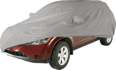 Auto and Cycle You have a lot invested in your vehicle, so it makes sense to use the best covers available to protect it. Coverking Car Covers have fewer seams to reduce the risk for seam failure or leakage. You will be washing your vehicle less, while protecting it against damage from UV rays and the weather. Made in USA. Triguard Custom-Fit Covers are the option of choice for those who want basic indoor or light-weather protection. It is a three-layered, soft and lightweight car cover for light-weather conditions. Each layer is treated with UV retardant to protect against harmful radiation from the sun. Color: Gray. Stormproof Custom-Fit Covers use a proprietary weave of microfibers to create an extreme all-weather material with no coatings, no treatments so nothing will wear off. The superior water resistance and breathability is crafted to last. Washing, rubbing and drying will not affect the performance. Colors: Black, Tan, Yellow, Red, Gray, Blue, Wine, Black/Red, Black/Gray, Black/Blue, Black/Yellow, Black/Wine, Black/Tan. Silverguard Custom-Fit Covers have an encapsulated sliver coating to reflect more sunlight for maximum UV resistance. These durable, 300-denier cover offer great performance in full sun. Not recommended for extreme rain, snow or ice. Silverguard Plus Custom-Fit Covers reflect sunlight and UV rays with an encapsulated sliver coating, and they feature a soft lining and water-resistant coating. Heavy-duty 300-denier shell resists ripping and tearing. Coverbond 4 and Coverbond 5 Custom-Fit Covers provide extra-heavy, super-thick protection for indoor and outdoor use. Protects against nicks, scratches and even light hail. Not suggested for daily use. Coverbond 4 covers feature four-layer construction, Coverbond 5 co Color: Silver. - $99.99