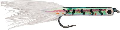 Fishing This tiny minnow imititation is ideal for working stump fields with live bait or on its own. Per 3.Size: 1/32 oz.Styles/colors:Yellow feather tail: (492)Green Back/Yellow.White feather tail: (291)Black Back/White. - $0.88