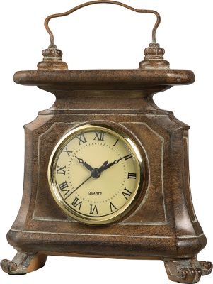 The look of a vintage, leather-wrapped clock at a fraction of the cost. 9 clock with precise quartz movements. Rich, worn-leather finish. Requires one AA battery (not included).Dimensions: 9H x 6-1/2W x 3W. Type: Clocks. - $39.99
