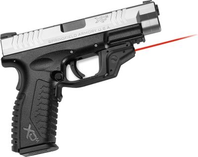 Fitness Crimson Trace Laserguards are the premier laser sight solution for pocket pistols. They attach to pistol trigger guards in minutes and provide all of the safety features in the most compact package on the market today. User-adjustable windage and elevation. All models have more than four hours of run time and a battery shelf life of five years. Range is 30 ft. in broad daylight. Three-year warranty. For additional information, click on manufacturers number. Battery: Up to four hours on one 1/3N lithium battery (included) or two .357 silver-oxide batteries. Type: Lasergrips. - $209.00