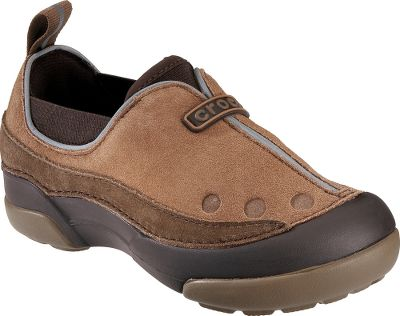 Entertainment Footbeds crafted of world-famous Croslite material ensure the lightweight cushioning of Crocs. Durable suede uppers combine with Croslite material for ultralight comfort. Elastic side strips ensure a snug fit. Reflective piping on vamps and heels. Rubber pods on outsoles deliver traction. Imported.Kids sizes: 4-13, 1-3.Colors:Hazelnut/Russet, Berry/Bubblegum. - $39.88