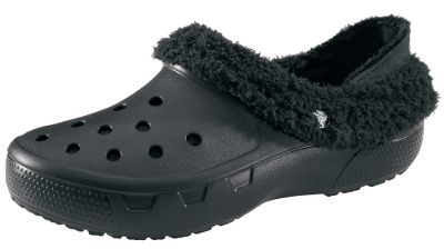 Entertainment Dont stop wearing your favorite, classic Crocs just because the temperature drops. These are fully lined for warmth and comfort, and the linings have heel cups that provide a more secure fit or can be folded down for a more traditional clog fit. The fully molded Croslite material construction provides maximum cushioning in a lightweight design. Linings are a polyester/cotton blend. Imported. Size: 6. Color: Brown. Gender: Female. Age Group: Adult. Material: Polyester. Type: Shoes. - $39.88