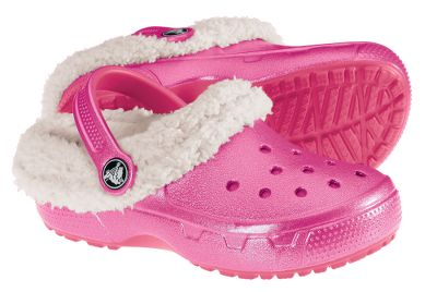 Entertainment Convertible shoes with the casual comfort Crocs is known for. Uniquely designed heel cup provides a secure fit and can be folded down for a traditional Crocs fit. Fully-molded Croslite uppers are ultralightweight and shock absorbing. Plush and warm removable liners for washable convenience. Iridescent finish sports a playful look. Imported.Kids sizes: 6/7, 8/9, 10/11, 12/13, 1-3. Medium width.Color: Raspberry/Oatmeal. Type: Clogs. Size: 2. Shoe Width: MEDIUM. Color: Raspberry/oatmeal. Size 2. Width Medium. Color Raspberry/Oatmeal. - $29.88