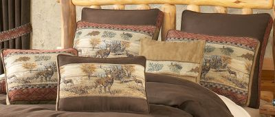 Hunting Handsomely detailed Euro Shams are crafted of a solid, warm chocolate polyester microsuede and accented with a diamond chenille border motif. Sham faces are 88% polyester, 8% cotton, 4% rayon. Sham backs are 65/35 polyester/cotton. Dry-clean only. Per each. Imported.Dimensions: 27 x 27. - $19.88