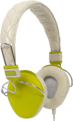 Entertainment Professional-grade audio performance meets lightweight, vintage styling. Adjustable cup sliders and a cushioned headband provide hours of harmonious comfort. A detachable, tangle-free cable with gold-plated connectors prevents common connection problems. Faux-leather lining. Braided cable. 3.5mm gold-plated audio jack. Imported.Driver unit: 40mm mylar driver.Weight: 1 lb.Dimensions: 7.25H x 5.7W x 2.6D.Colors: Green, Blue, Pink. - $29.99