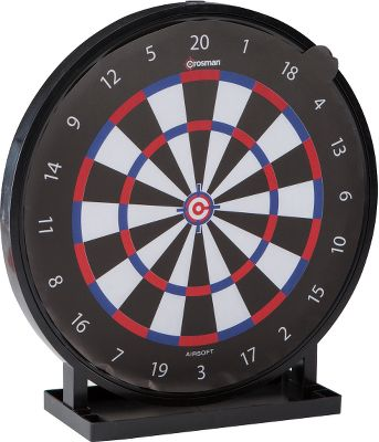 A 12-wide, dartboard-style target for practice and play with airsoft guns. Tray at bottom catches airsoft pellets for easy cleanup. - $19.99