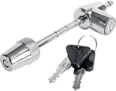 Secure latch-style couplers with this adjustable, keyed lock. Six locking positions adjust to fitcoupler latch widths up to 2-1/2. Keyway cover protects cylinder from dirt and moisture. 1/4-diameter pin. - $14.99
