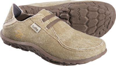 Faux, stretch laces make the Cushe Slipper Mocs easy to slip on and off. Breathable microfiber canvas linings deliver cool, fatigue-reducing comfort throughout the day. Imported.Mens whole sizes: 8-13 medium width.Color: Sand. - $39.88