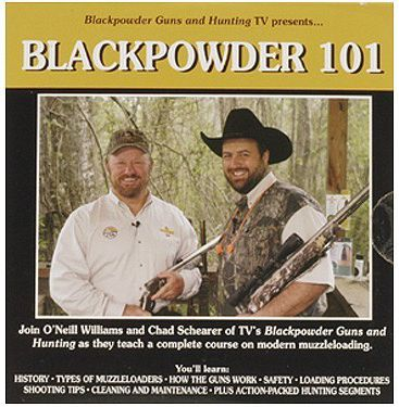 Hunting A great introductory DVD for anyone getting into black-powder hunting. DVD outlines types of muzzleloaders, calibers, propellants, ignition systems and more. Also included are hunts in New Zealand for stag, in Georgia for wild boar, in Texas for turkeys and an arctic musk ox hunt. 60 minutes. Type: Books & DVD's. - $4.88