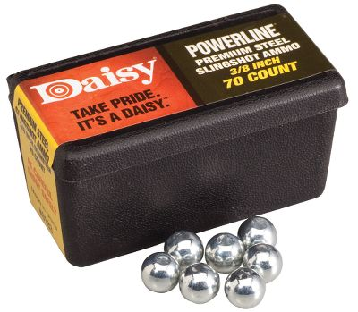 High-quality, 1/4-dia., zinc-plated solid steel ammo provides hours of sling-shooting fun. Available: 1/4 (per 250) 3/8 (per 75) - $4.99