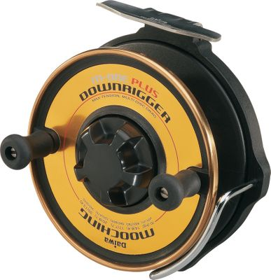 Fishing An upgrade of the classic M-One reel with a massive, seven-disc drag for greater fish-stopping performance and better heat dissipation. The simple, straightforward mechanism gives it the ultimate, reliable performance to handle large fish in virtually any water conditions. One-way power drag system lets you wind forward without fighting drag resistance and automatically shifts into smooth, fish-controlling drag as line is pulled from the reel. Tough, yet lightweight graphite body and spool. The stainless outer ring on the spool is titanium-nitride coated to resist scratching and cutting. Exposed rim control lets you manually apply extra tension when needed. Soft touch grips. Right- or left-hand retrieve. Capacity: 660 yards of 17 lb. test line. Gear ratio: 1:1. - $59.99