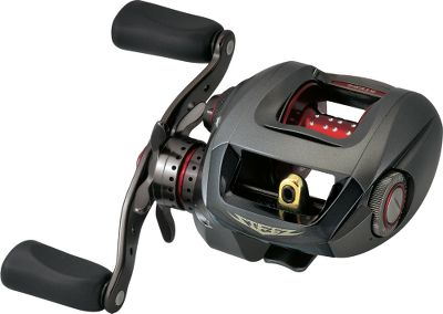 Fishing Weighing just 5.5-oz., the Steez reel is the lightest-weight baitcaster of its kind. Everything in its design, from its 11 precision ball bearings plus roller bearing to the free-floating aluminum-alloy spool, is dedicated to the most efficient performance at the lightest possible weight. Magforce -V automatic magnetic spool brake controls backlashes and is fully adjustable to match any skill level. The Daiwa-exclusive swept handle ensures less wobble, better feel and maximum winding leverage. Locking, bayonet-mount sideplate allows fast spool access. Eight-disc wet drag with precision click adjustment. Infinite anti-reverse. Magnesium frame and handle-side sideplate. Tough, tempered aluminum drive gear and phosphor bronze pinion. Max drag 8.8 lbs. - $399.88