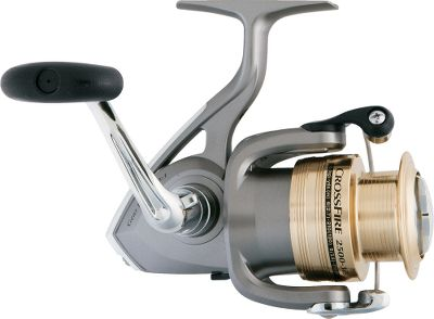 Fishing Toss spinners to targeted fish with advanced features and fluid motion with the Crossfire spin-cast reel. Digigear digitally designed stainless and bronze alloy gears are durable for years of service. Digigear design ensures a perfect mesh between ultratough alloy drive gear and the marine bronze pinion gear. Daiwa reels with Digigear boast the smoothest cranking performance you've ever experienced. Three ball bearings plus one roller bearing. Full-time infinite anti-reverse for solid hooksets. Twist Buster line twist reduction. The Gyro system rotor eliminates wobble, while the advanced locomotive levelwind wraps the spool evenly. ABS metal spool and durable graphite frame. - $14.88