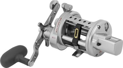 Fishing Get the brute strength of a heavy-duty linecounter with the easy-handling responsiveness of a levelwind casting reel. Its direct-drive linecounter measures line by the foot for reaching exactly where the fish are biting and returning to the same depth cast after cast. High-strength alloy gears for serious winding power and more than a meter of line pick-up with each crank. 10-element super drag with stainless steel and grease-impregnated carbon fiber washers for maximum drag pressure with minimal heat build-up for premium stopping power. Shielded, corrosion-resistant ball bearings resist debris for 12 times more service life than ordinary bearings. Full-metal-jacket construction prevents body flex with a rugged aluminum alloy frame and side plate. Machined aluminum spool. Levelwind system for even line lay. Dual-system anti-reverse eliminates backplay. Two-position power handle. One-year manufacturer warranty. Color: Stainless Steel. Type: Trolling Reels With Line Counters. - $189.99