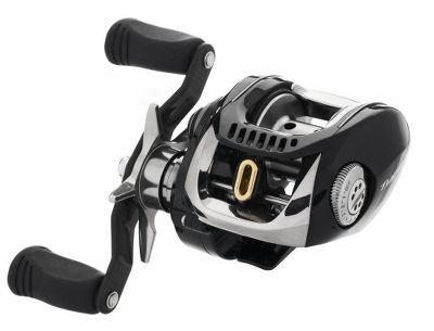 "Fishing Ultrafast reel with a blazing 7.3:1 retrieve ratio is capable of pulling in 32"" of line with every crank of the handle. The lightweight carbon-swept handle is closer to the rod's center allowing for efficient retrieves with less wobble. Free-floating aluminum spool starts faster and spins longer giving you superior casting results. Magforce -Z automatic anti-backlash system applies brakes to the spool as it reaches maximum speed and is adjustable to match your fishing skills. Powerful Ultimate Tournament (UT) drag system delivers an impressive 15.5 lbs. of drag pressure. Rigid aluminum frame's side-turned slat porting and angled-cut gear teeth improve the overall smoothness of the reel and firmly supports the drivetrain for reduced wear and stress. Boasts 11 ball bearings plus a roller bearing. - $349.88"