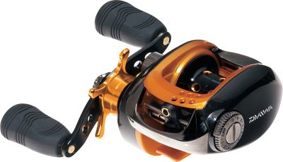Fishing Feature-loaded Daiwa performance at an affordable price. The UTDrag system uses advanced carbon-material drag washers to ensure the smooth, fade-free stopping power needed to control hard-running fish. Use the Magforce cast control, an externally controlled magnetic braking system, to eliminate backlash. Eight ball bearings and one roller bearing ensure smooth casts and retrieves. Strong, lightweight composite frame and sideplates. Machined-aluminum spool. Weight (oz.): 7.7. Type: Casting Reels. Reel Model: AIRD100HL. Max. Drag (lbs.): 8.8. Line Recovery Inches/Turn: 25.7. Line Capacity (yds./lb. test): 120/12. Gear Ratio: 6.3:1. Bearings: 8+1. Reel Aird100hl. - $69.88