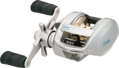 "Fishing Don't let the compact size fool you because this reel has big-reel line capacity and durability. Made specially for inshore fishing, it's complete corrosion protection includes five, Corrosion-Resistant Ball Bearings (CRBB), an aluminum alloy frame and sideplate, and a perforated machine aluminum spool. The Centriflex centrifugal spool brake automatically applies braking force at the peak spool speed, where it is needed the most. Infinite anti-reverse ensures quick, solid hooksets. The fast 6.3 to 1 retrieve pulls in 28"" of line per crank. A seven-disc fiber-composite wet drag keeps you in control of the fight. Ball bearings: 5+1.Line capacity: 14/120.Weight: 8.3 oz. - $79.88"