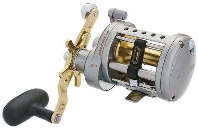Fishing Experience the proven performance of a Saltist reel with the added convenience and efficiency of a levelwind. Enjoy fish-dominating cranking power, a super-smooth multidisc drag that can produce up to 22 lbs. of drag and the pleasantly smooth operation afforded by four corrosion-resistant CRBB bearings. The foundation of this reel's all-metal construction is a rigid one-piece aluminum frame. High-strength alloy gears deliver up to 30 greater winding power than lesser reels. Dual anti-reverse systems. Dual-position power handle. Rod clamp included. Type: Saltwater Conventional Reels. - $179.99