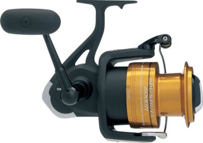 Fishing Built for the big ones. These large spinning reels combine increased line capacity and a smooth powerful sealed drag to reliably boat the largest of the species. The price makes them an exceptional buy for everything from saltwater to catfish and sturgeon. Infinite anti-reverse for solid hooksets.Twist Buster line twist reduction. Imported. - $99.88