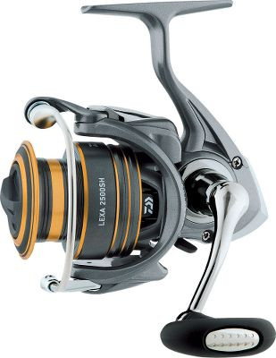 Fishing The Lexa Spinning Reel series delivers all of the smooth operation and lightweight durability you crave. The Air Rotors unique shape reduces unnecessary weight while distributing stress more evenly throughout the rotor for maximum strength. The lightweight Hollow AirBail is super-strong, has no protrusions to snag line and boasts a Lifetime bail spring. Felt sealed for superior waterproofing, the aluminum-alloy Hardbodyz body construction and ABS aluminum spool offer strength without added weight. Four ball bearings plus a roller bearing result in smooth operation. Digital designed and cut Digigear gearing adds power and durability. Microclick front drag, infinite anti-reverse and Twist Buster II. Type: Spinning Reels. - $119.99