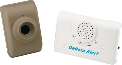 Hunting Know when your home is being approached by vehicles, animals or people. These alert systems sound a tone in your home to alert you. DCMA unit detects vehicles, people and animals. Available: DCMA-2500 With this wireless driveway motion alert system, youll know when someone is coming up the driveway. The weatherproof transmitter is engineered for year-round outdoor use and projects a passive infrared beam across the driveway that will sense motion of people or vehicles up to 80 ft. away. Program the receiver in your home to sound one of four tones when the beam is crossed. You can control the volume, tone style and duration of the sound. The sensor operates on a 9-volt battery (not included), and the receiver plugs into a home wall outlet. Range: 1/2 mile. Gender: Male. Age Group: Adult. - $119.99