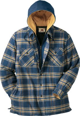 Classic flannel warmth and durability. Cotton shell with a quilted-nylon lining. Zip-up and button-front closure; button cuffs. Hidden handwarmer pockets. Imported.Sizes: M-2XL.Colors: Olive, Wheat, Storm, Olive Plaid, Dusk, Rust.Dakota Grizzly Style No.: 47410. - $24.99